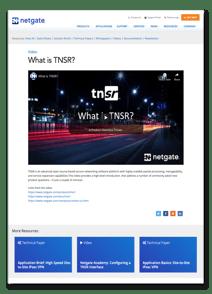 What is TNSR Video Thumbnail