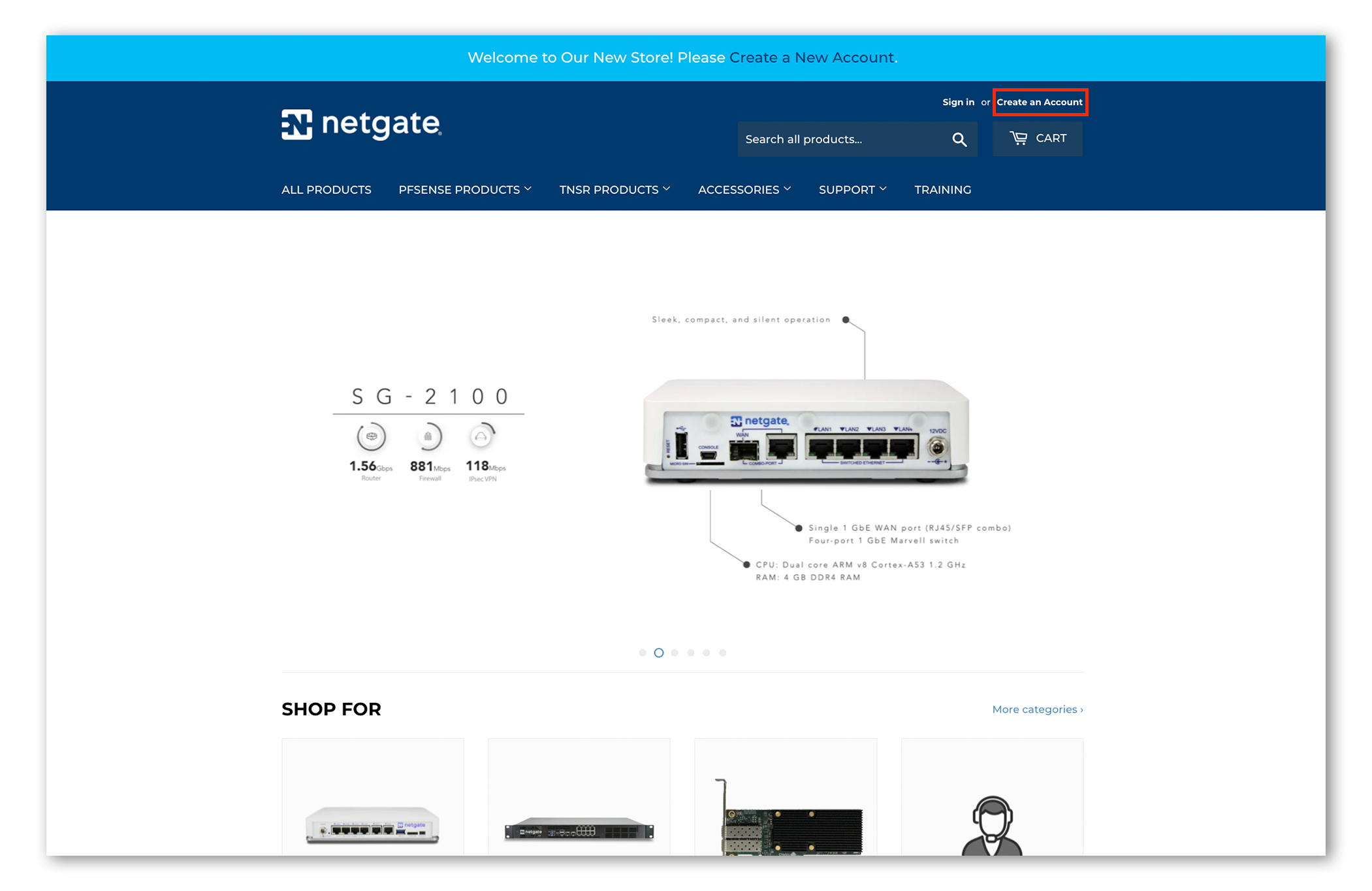 Netgate Introduces New e-Commerce Store and Appliance Ordering Options
