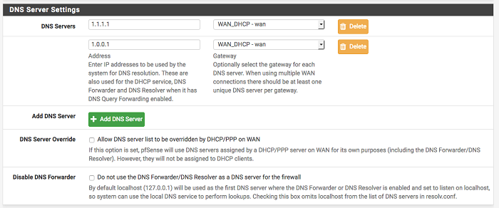 DNS over TLS with pfSense