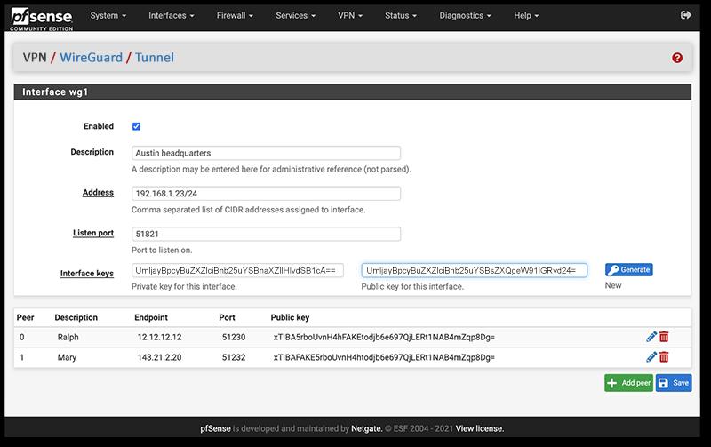 WireGuard for pfSense Software