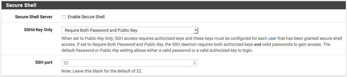 SSH Password and Public Key
