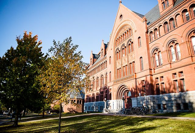 image of old university building in the sunshine