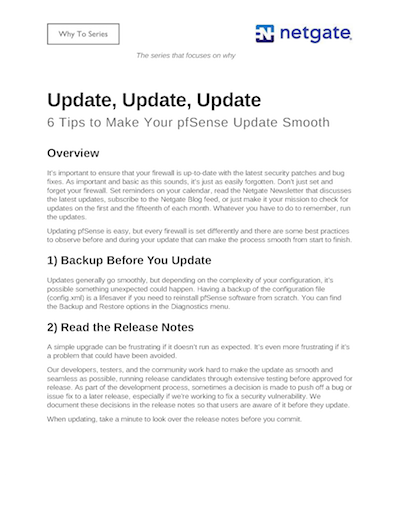 Front page preview of Update, Update, Update Technical Paper